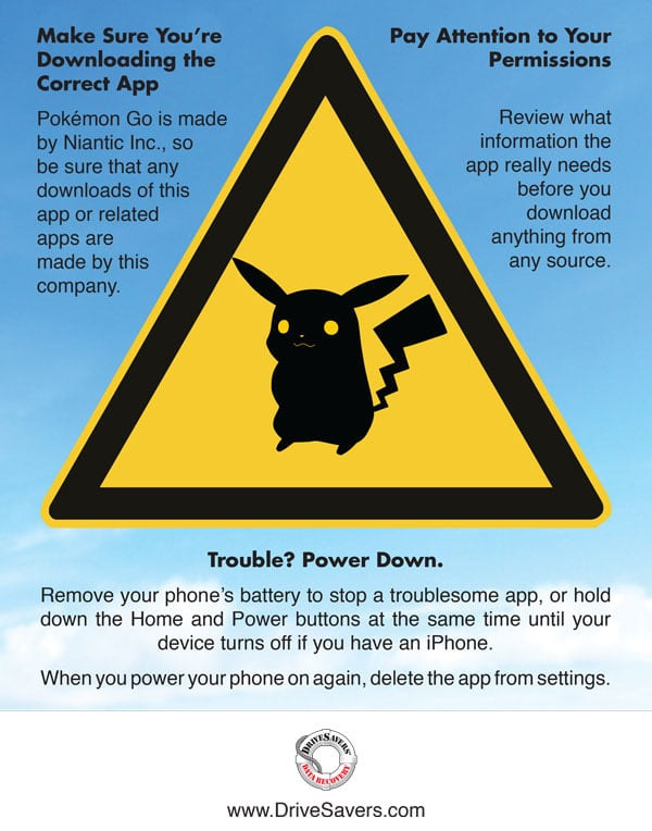 Pokémon Go Security Warning Infographic