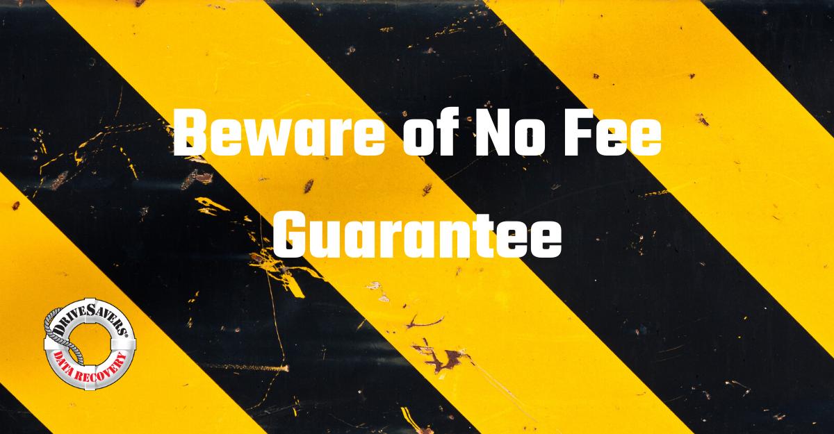 Beware No Fee Guarantee