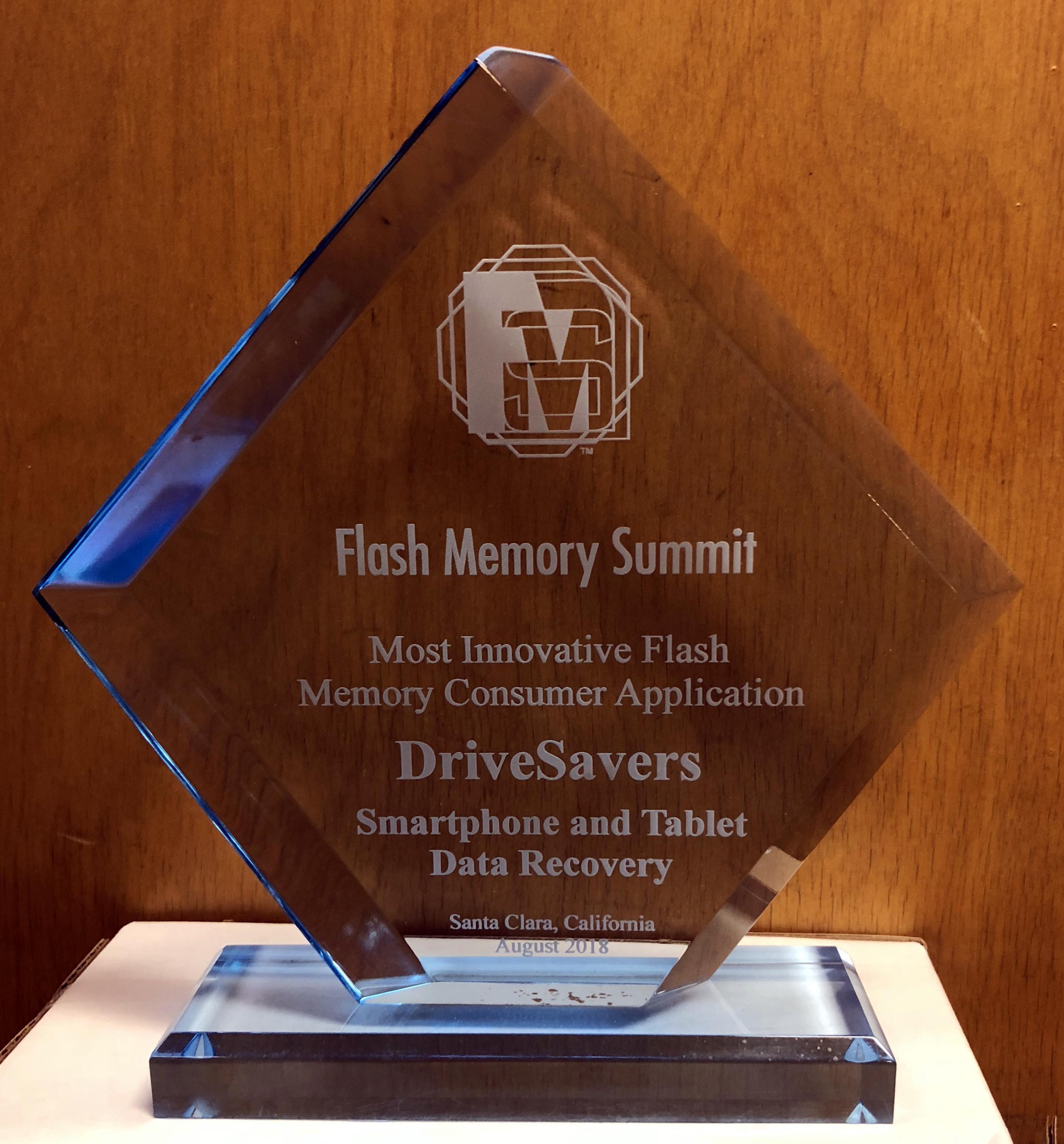 DriveSavers Wins 2018 Most Innovative Flash Memory Consumer Application Award