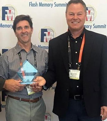 DriveSavers data recovery company accepting Flash Memory Summit award