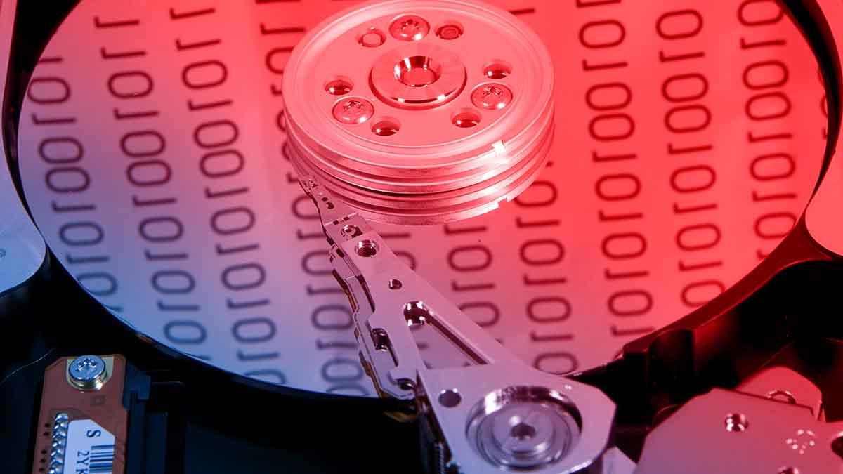 Data Stored On An HDD Platter