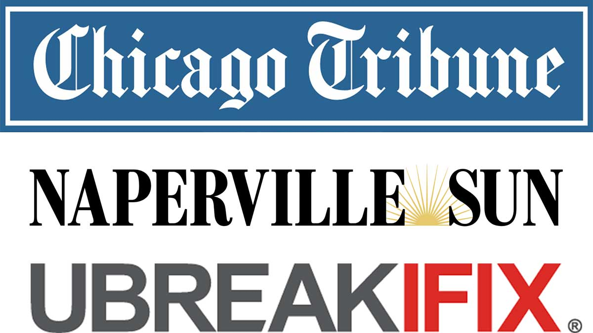 The Chicago Tribune Local Affiliate Naperville Sun Interviewed Ubreakifix