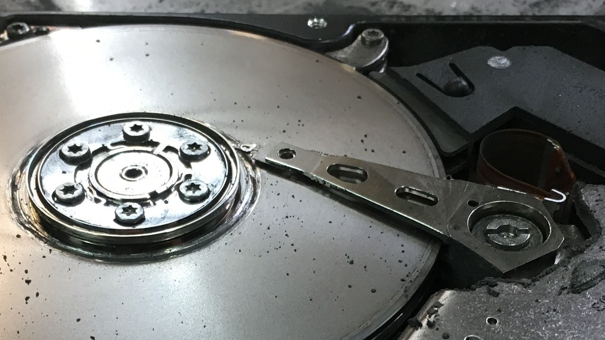 Head Crash On A Hard Disk
